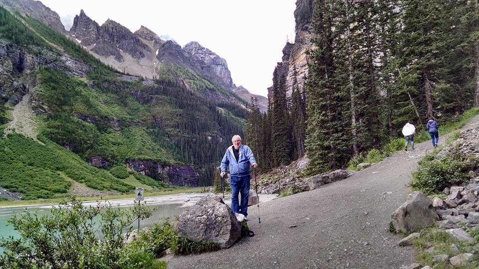Paul Hiking Lake Louise