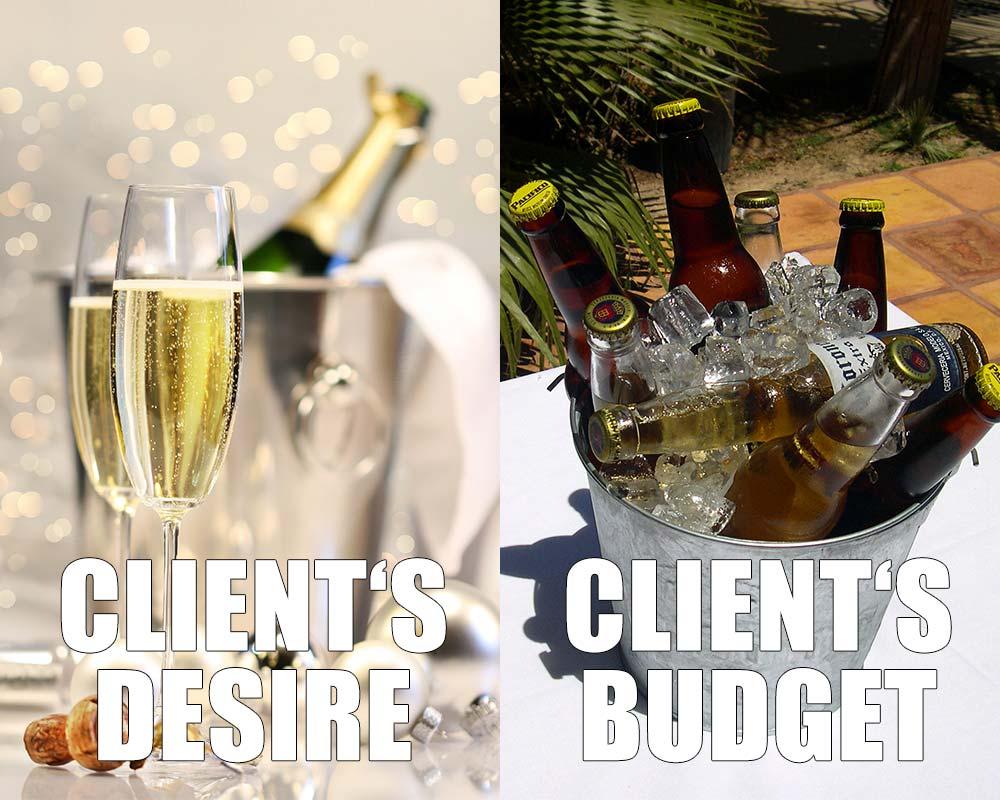 client desire vs. client budget